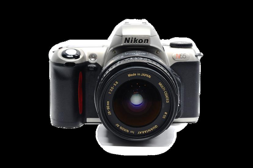 Nikon N65 Film Camera with Quantaray 28-90mm f/3.5-5.6 Lens