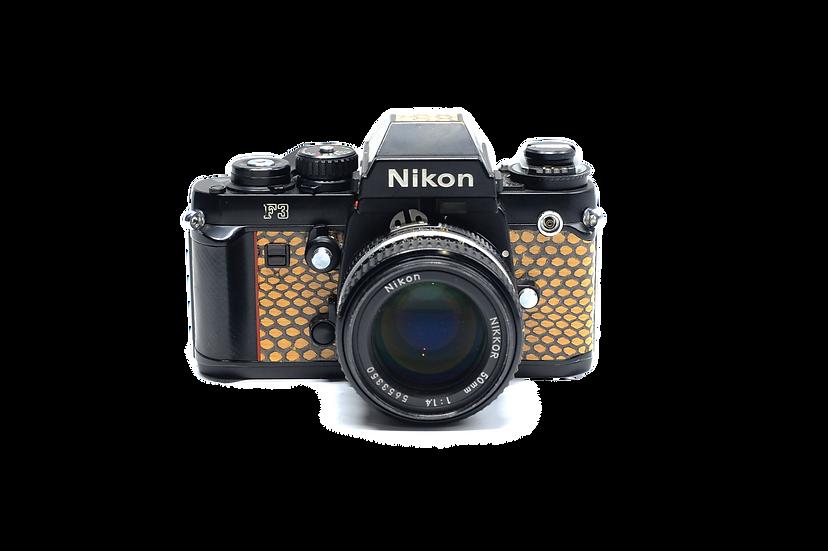 Nikon F3 Snake Skin Film Camera w/ 50mm f/1.3 AIS Lens