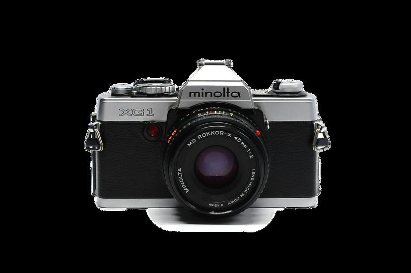 Minolta XG-1 Film Camera w 45mm F/2 Lens
