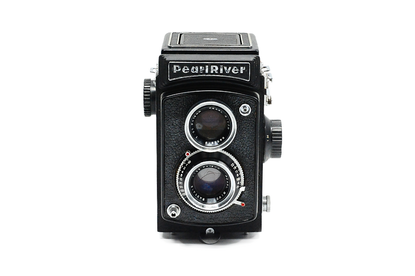 Pearl River TLR Film Camera with a 75mm f/3.5 Lens