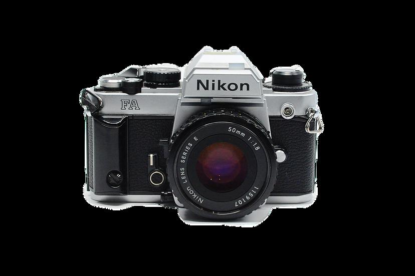 Nikon FA Film Camera (Silver) with 50mm f/1.8 Lens