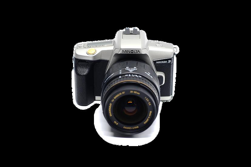 Minolta Maxxum 3 Film Camera with 28-80mm f/3.5-5.6 AF Lens