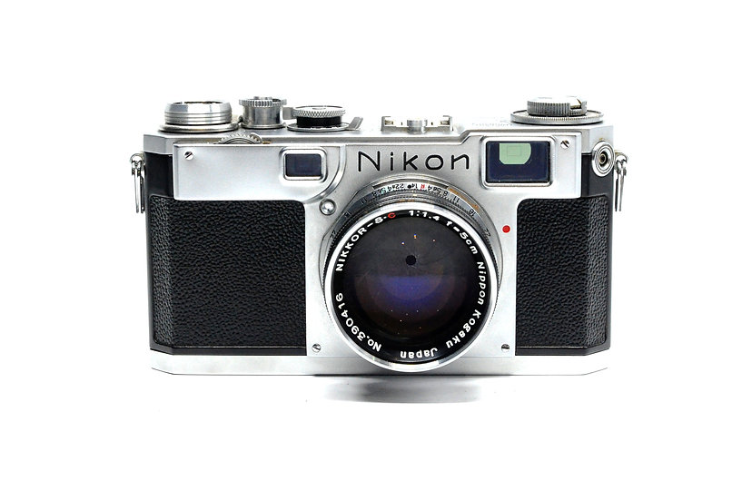 Nikon S2  Rangefinder Film Camera (Black Dial) with 50mm f/1.4 Lens