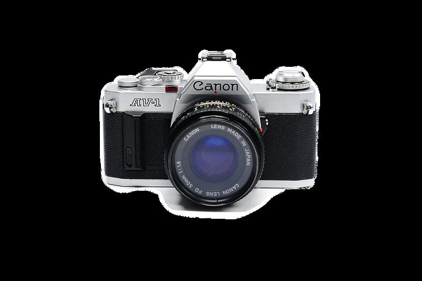Canon AV-1 Film Camera with 50mm f/1.8 Lens
