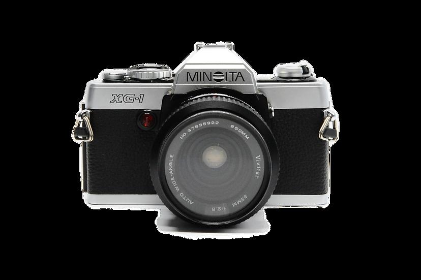 Minolta XG-1 Film Camera with 35mm f/2.8 Vivitar Lens