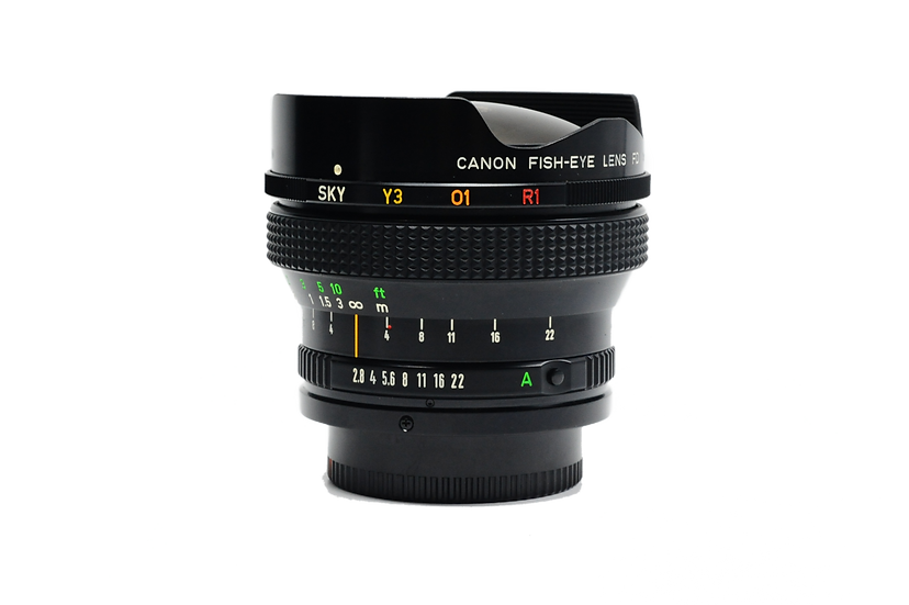 Canon 15mm f/2.8 Fisheye Lens with Built-in Filters