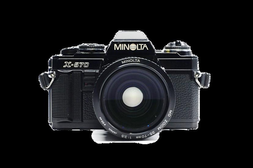 Minolta X-570 Film Camera w/ f/3.5 35-70mm  Lens