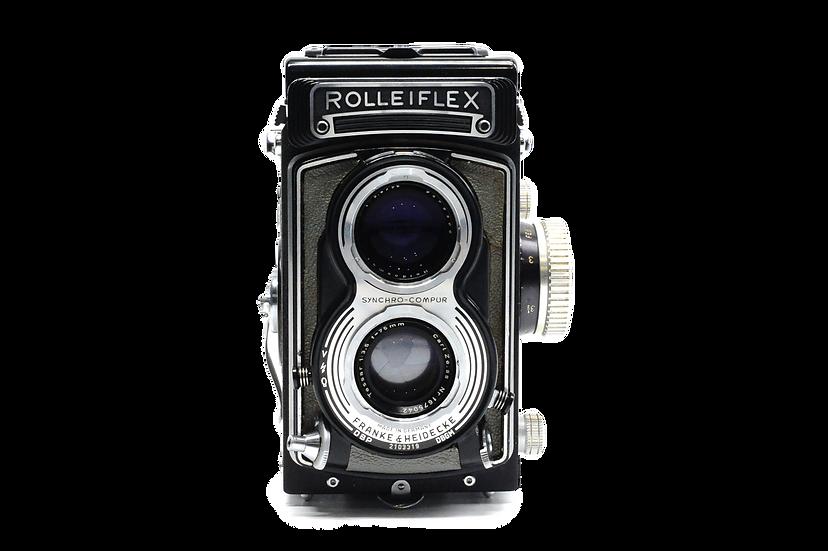 Rolleiflex T TLR  Medium Format Film Camera w/ 75mm Lens