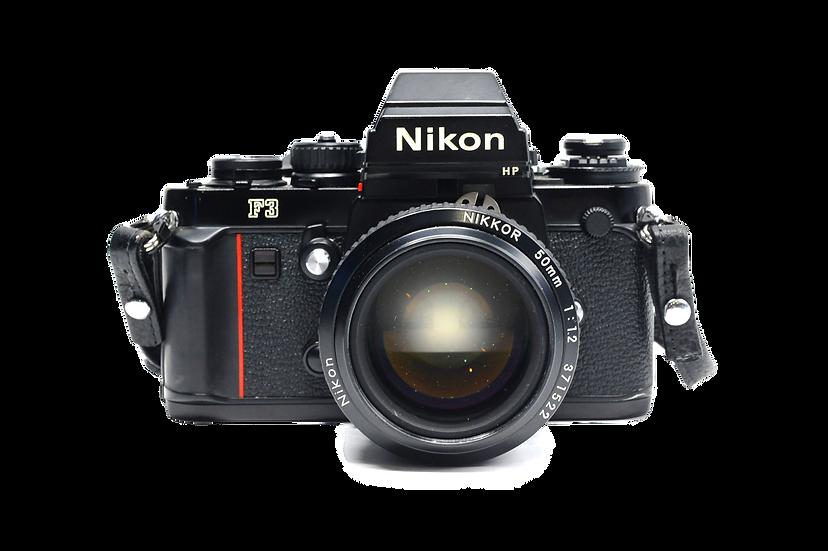 Nikon F3 HP Film Camera with 50mm f/1.2 Lens