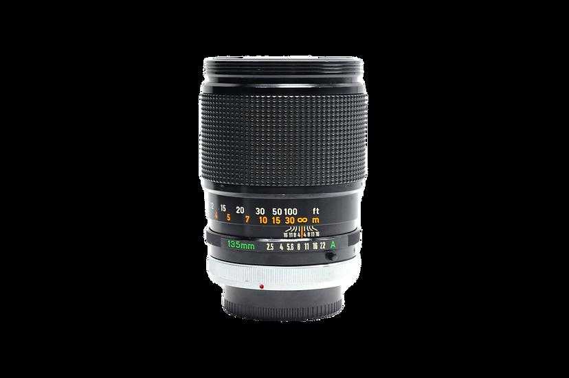 Canon 135mm f/2.5 FD S.C. Manual Focus Lens