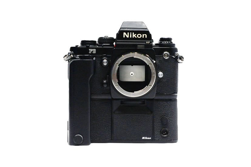 Nikon F3 Film Camera with HP Finder & MD-4 Motor Drive