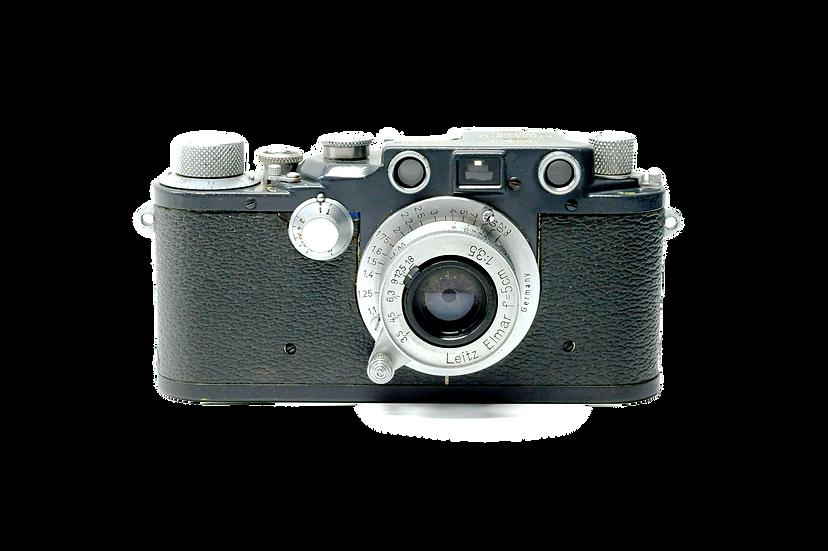 Leitz Leica IIIC K W.H. 3.5/5cm WH Elmar Grey with Grey Case