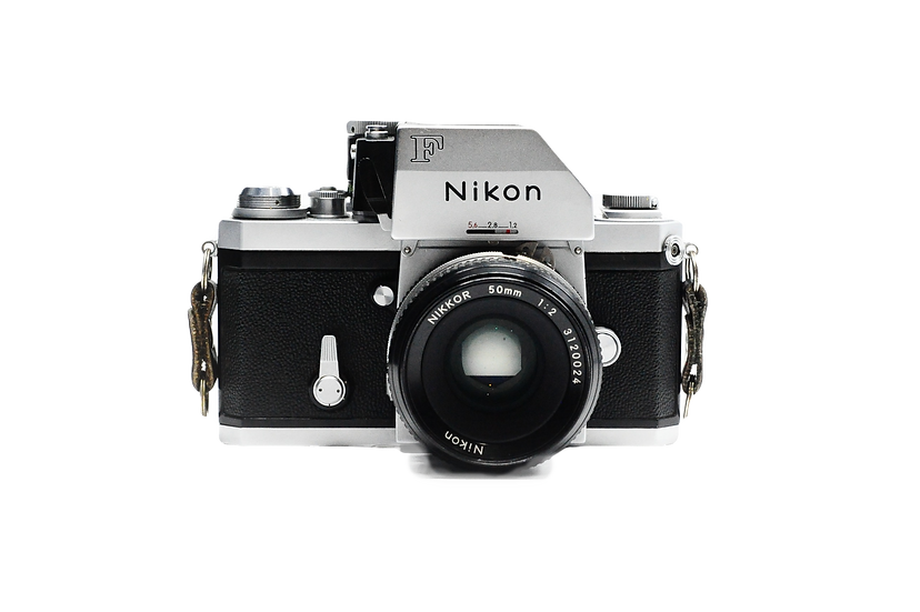 Nikon F Silver Photomic FTN Finder Film Camera with 50mm f/2.0 Lens
