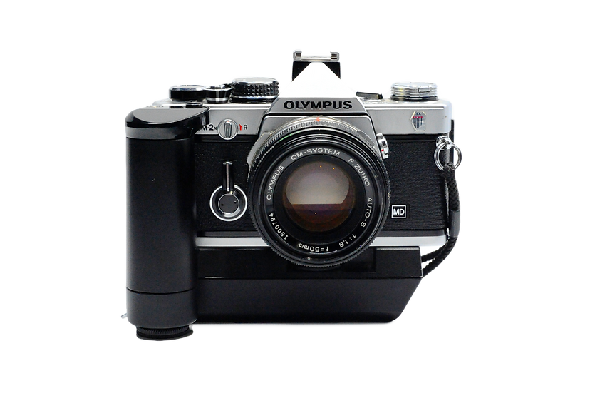 Olympus OM-2N Film Camera with 50mm f/1.8 Lens and Winder 2