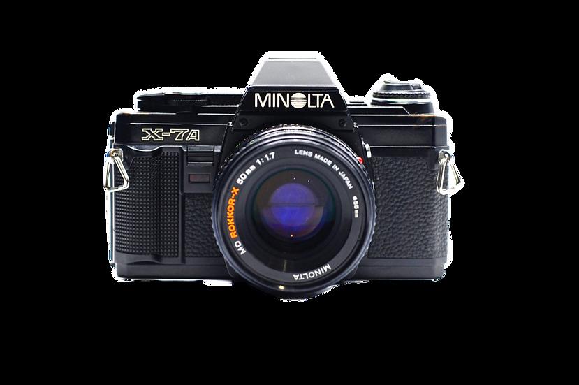 Minolta X-7A Film Camera with Rokkor-X 45mm f/2 Lens