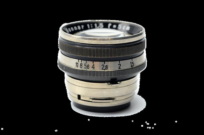 Carl Zeiss Jena Sonnar 5cm f/1.5 Black for Contax Rangefinder (RARE!)