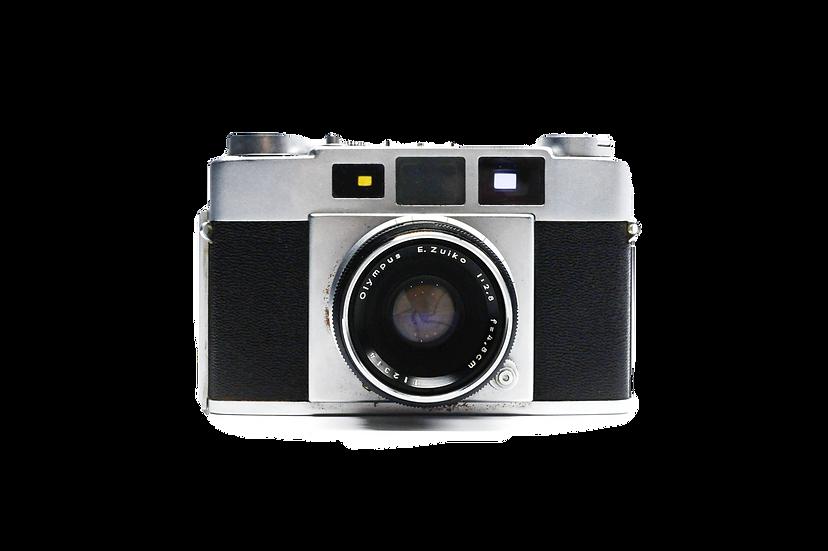 Olympus 35-S Rangefinder Film Camera with 4.8cm f/2.8 Lens