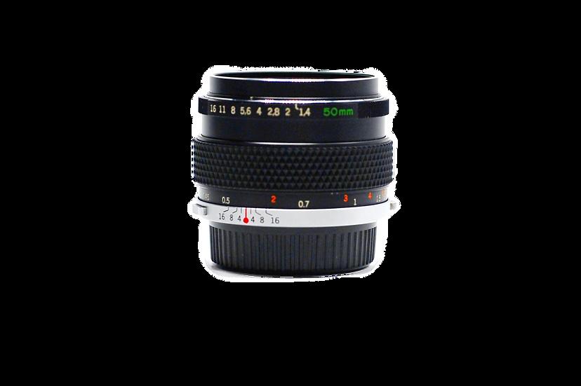 Olympus 50mm f/1.4 G. Zuiko Manual Focus OM Lens