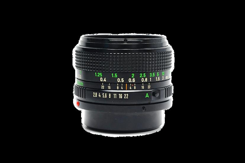 Canon 28mm f/2.8 FD Manual Focus Film Lens