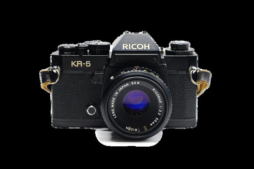 Ricoh KR-5 Film Camera w/ 55mm f/2 Lens