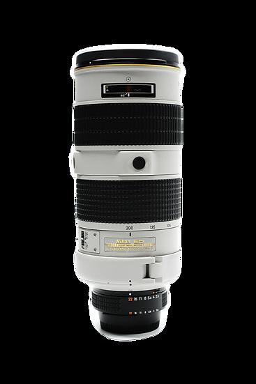 Nikon 80-200mm f/2.8D ED AF-S NIKKOR Lens (White/Light Grey)