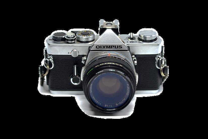 Olympus OM-1 Film Camera with 50mm f/1.8 Lens