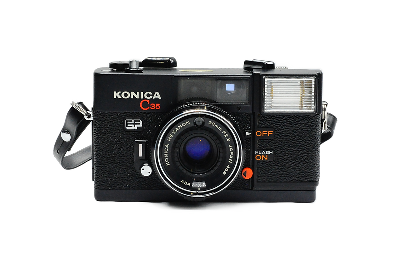 Konica C35 EF Rangefinder Film Camera