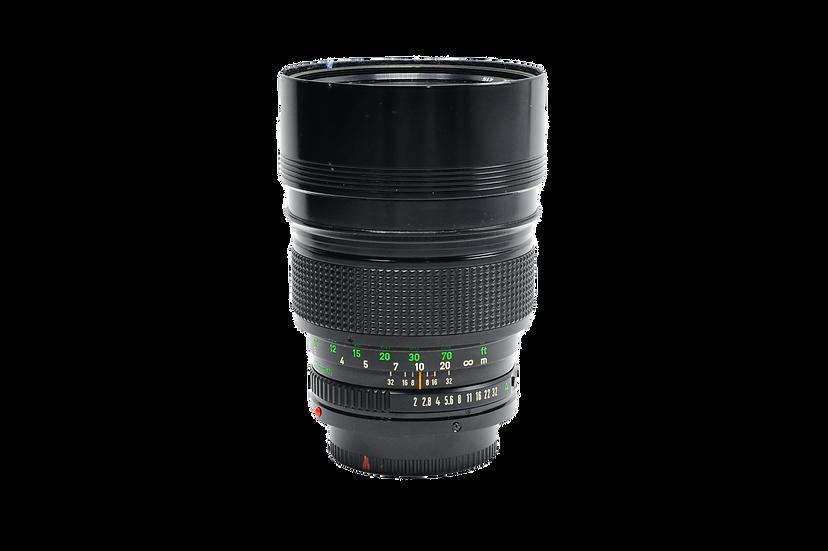 Canon 135mm f/2 FD Manual Focus Lens