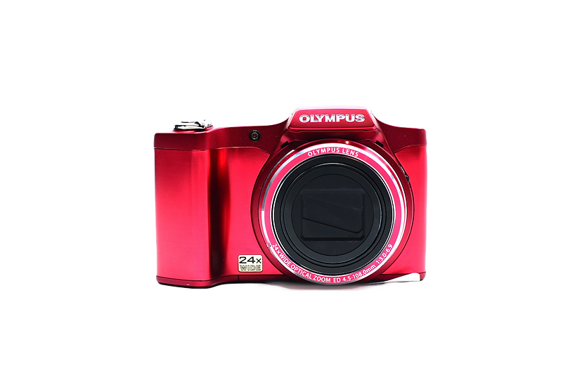 Olympus SZ-14 Digital Point and Shoot Camera (Red)