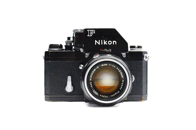 Nikon F Film Camera with Photomic FTN Finder and 50mm 1.4 Lens