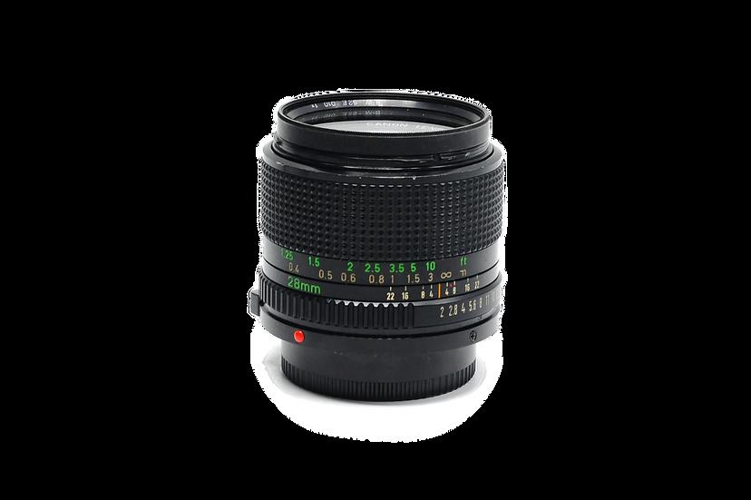Canon 28mm f/2 FD Manual Focus Film Lens