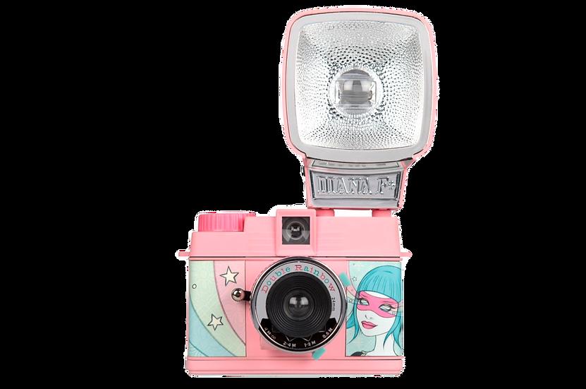 Lomography Diana Mini 35mm Camera with Flash (Double Rainbow)