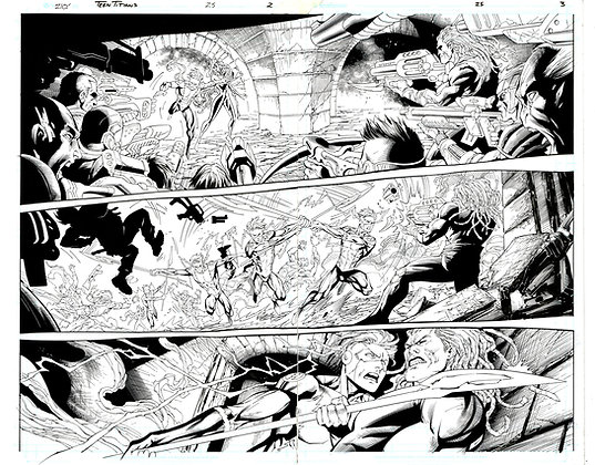Teen Titans #25/Pages 2 and 3      SOLD