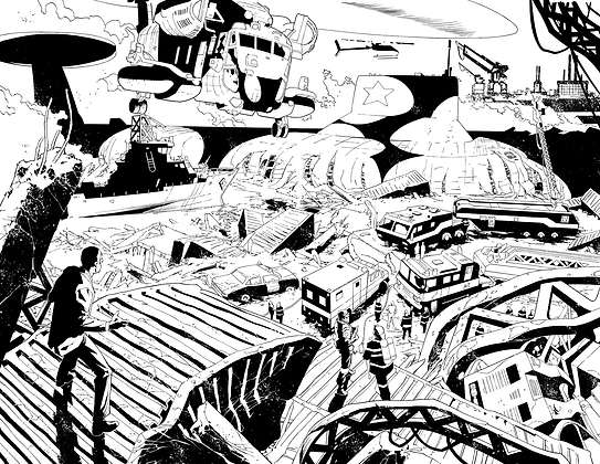 Deathstroke #7/Pages 2&3 Dbl Page Spread