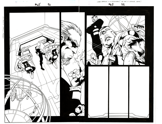 X-Men #65/Pages 21&22  Dbl Page Spread