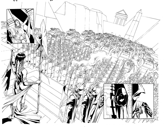 Teen Titans #24/Pages 4&5  Dbl Page Spread