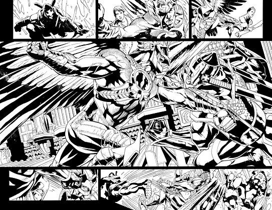 Savage Hawkman #11/Pages 6&7 Dbl Page Spread
