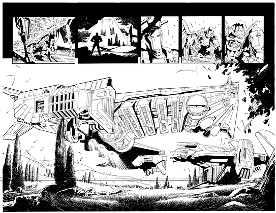 Savage Hawkman #12/Pages 16&17 Dbl Page Spread