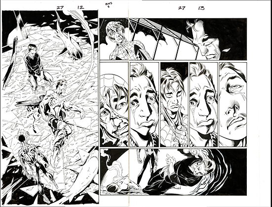Ultimate Spiderman #27/Pages 12&13  Dbl Pg Spread