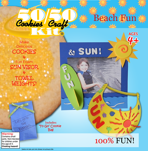 Fun in the Sun Picture Frame with visor