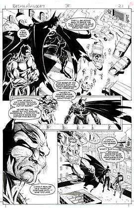 Batman/Wildcat #3/Page 21    SOLD