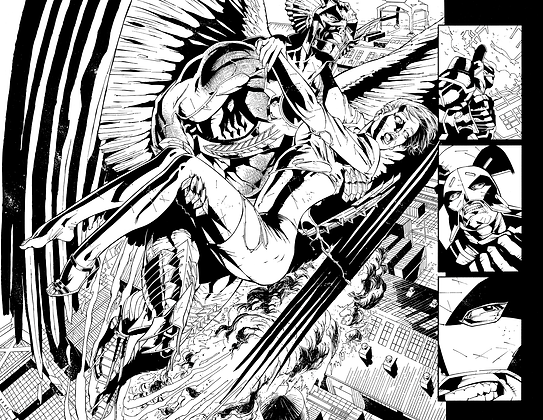 Savage Hawkman #10/Pages 14&15 Dbl Page Spread