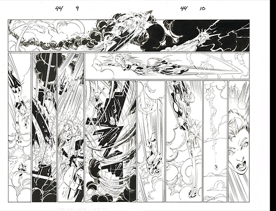 Ultimate Spiderman #44/Pages 9&10  Dbl Page Spread