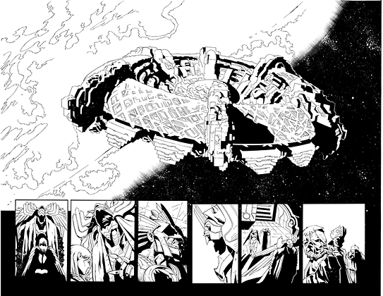 Savage Hawkman #16/Pages 9&10 Dbl Page Spread