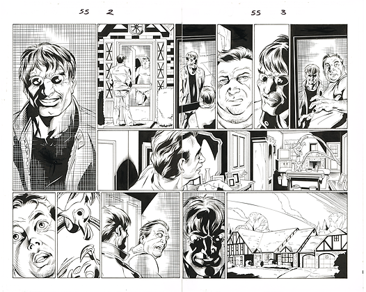 Ultimate Spiderman #55/Pages 2&3  Dbl Page Spread