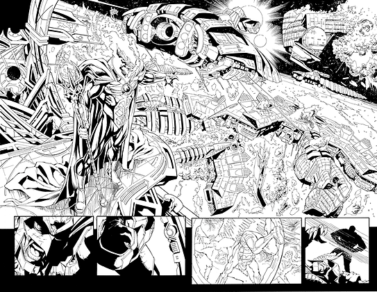 Savage Hawkman #12/Pages 14&15 Dbl Page Spread