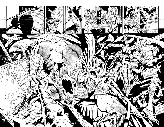 Savage Hawkman #14/Pages 2&3 Dbl Page Spread