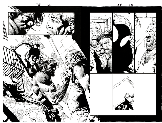 Ultimate X-Men #35/Pages 12&13  Dbl Page Spread