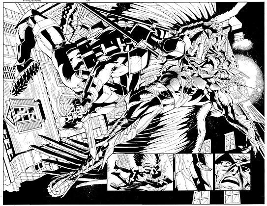 Savage Hawkman #12/Pages 2&3 Dbl Page Spread