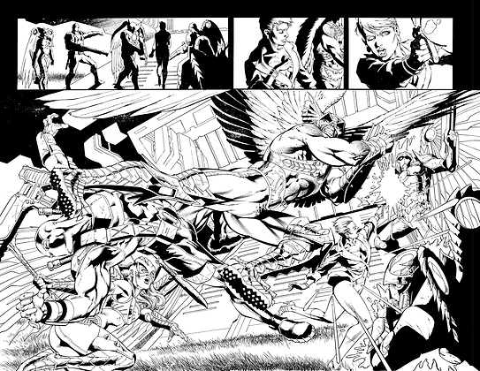 Savage Hawkman #13/Pages 2&3 Dbl Page Spread